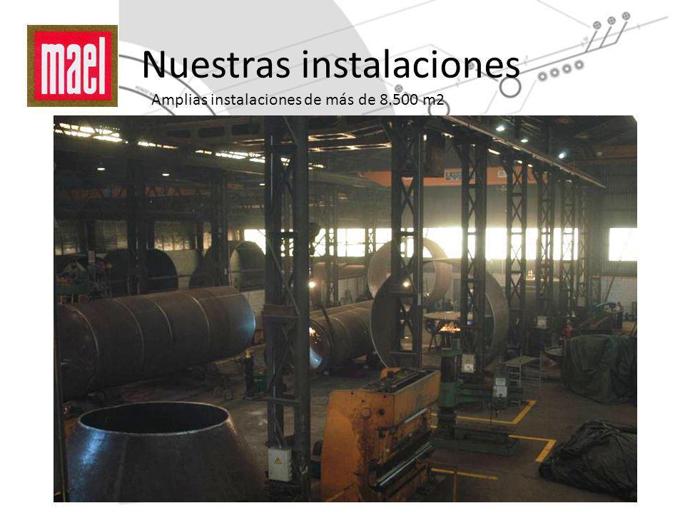 Nuestras instalaciones Amplias instalaciones de más de 8.500 m2