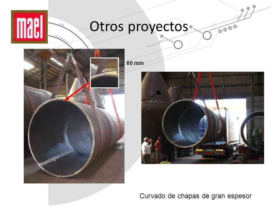Otros proyectos Curvado de chapas de gran espesor 60 mm