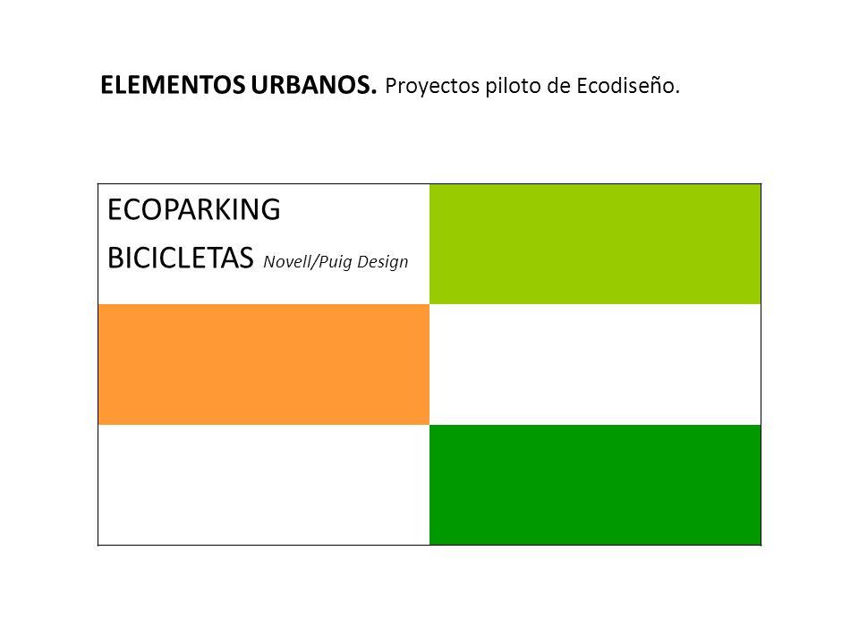 ELEMENTOS URBANOS. Proyectos piloto de Ecodiseño. ECOPARKING BICICLETAS Novell/Puig Design