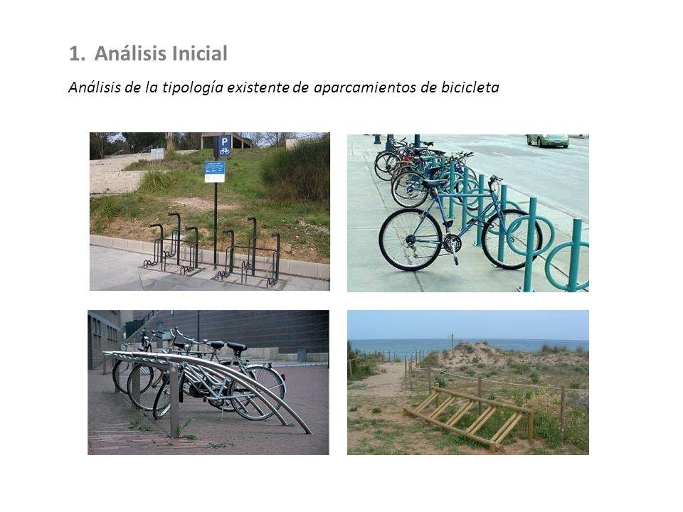 1.Análisis Inicial Análisis de la tipología existente de aparcamientos de bicicleta