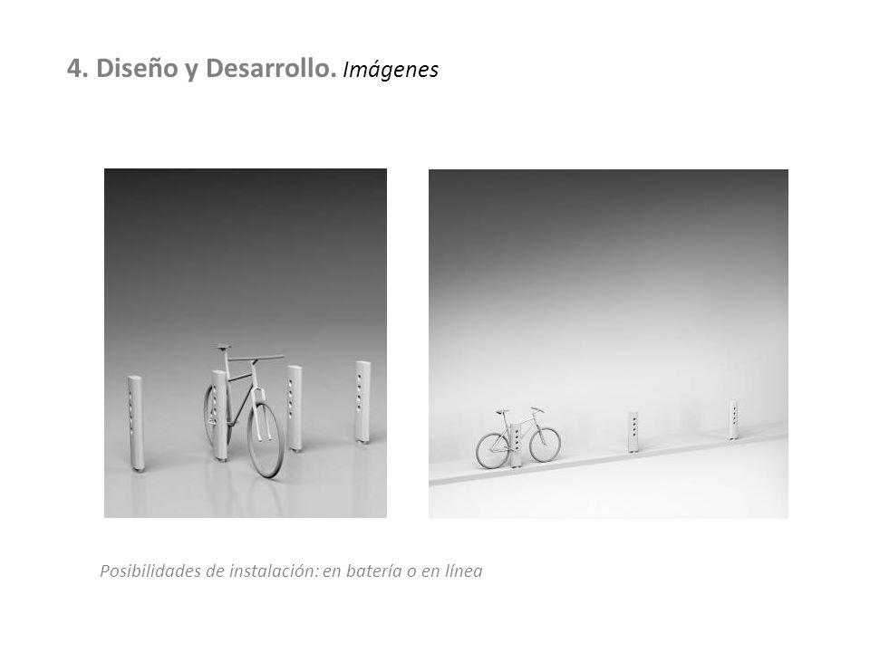Posibilidades de instalación: en batería o en línea 4. Diseño y Desarrollo. Imágenes