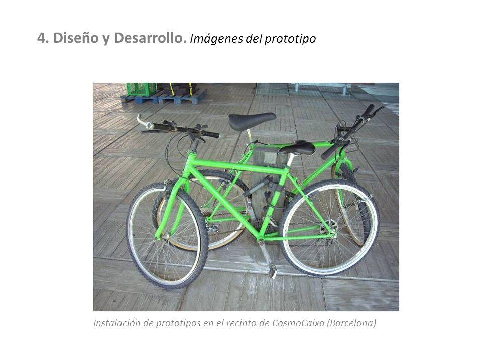 Instalación de prototipos en el recinto de CosmoCaixa (Barcelona) 4. Diseño y Desarrollo. Imágenes del prototipo