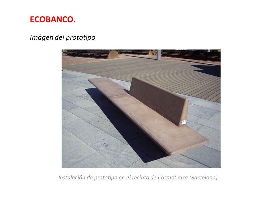 ECOBANCO. Imágen del prototipo Instalación de prototipo en el recinto de CosmoCaixa (Barcelona)