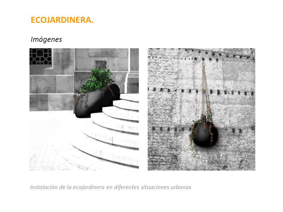 ECOJARDINERA. Imágenes Instalación de la ecojardinera en diferentes situaciones urbanas