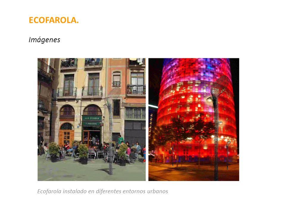 ECOFAROLA. Imágenes Ecofarola instalado en diferentes entornos urbanos