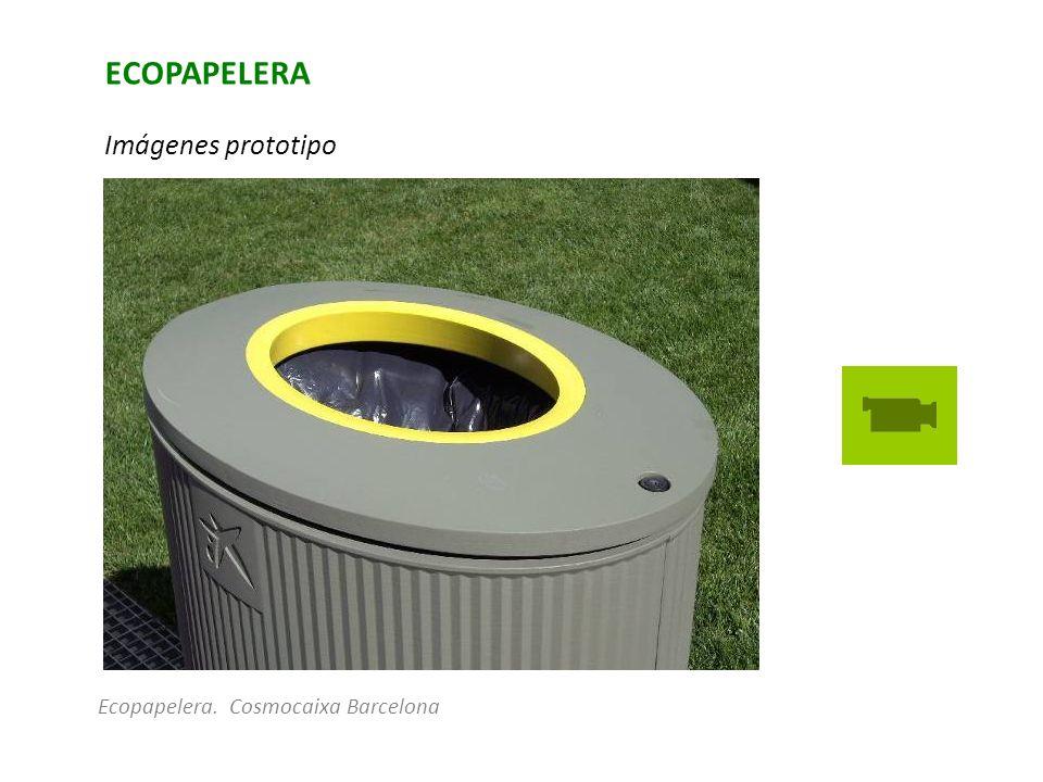 ECOPAPELERA Imágenes prototipo Ecopapelera. Cosmocaixa Barcelona