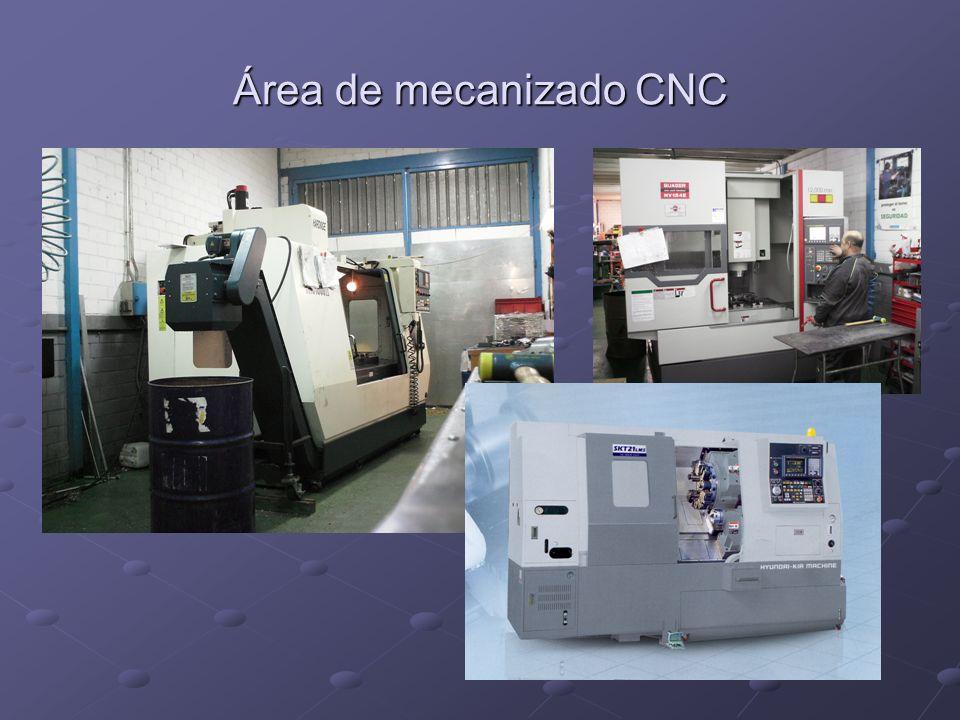 Área de mecanizado CNC