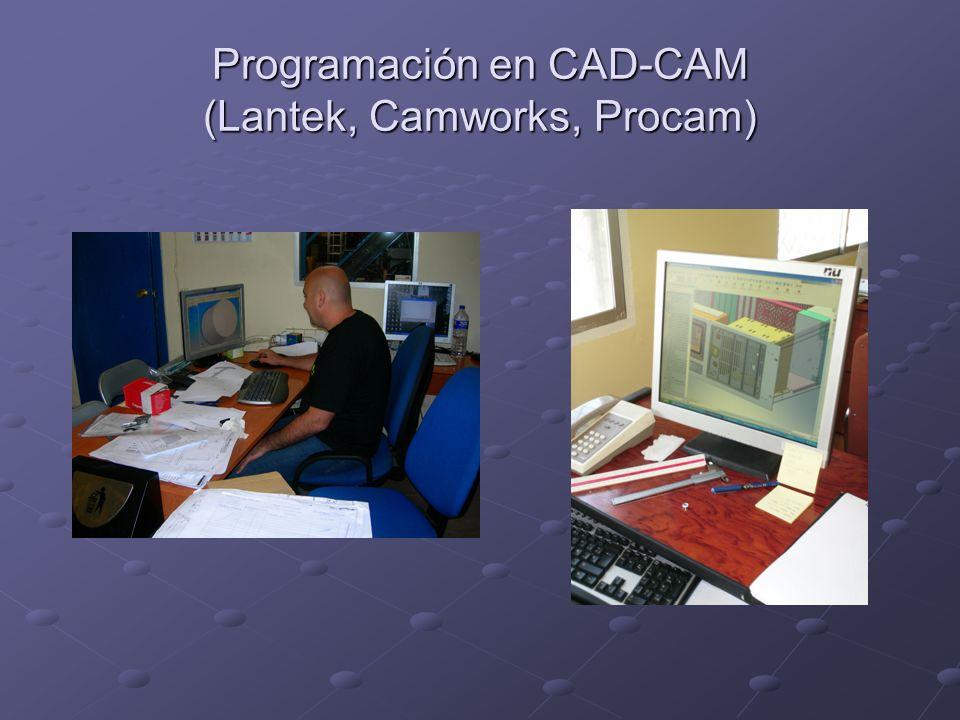 Programación en CAD-CAM (Lantek, Camworks, Procam)