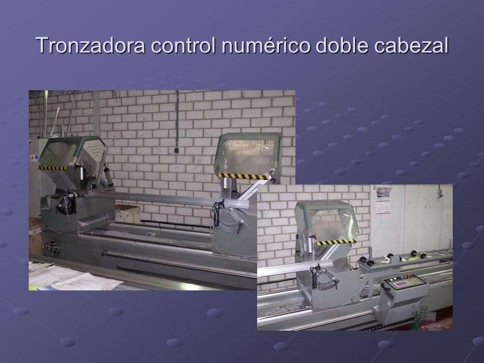 Tronzadora control numérico doble cabezal