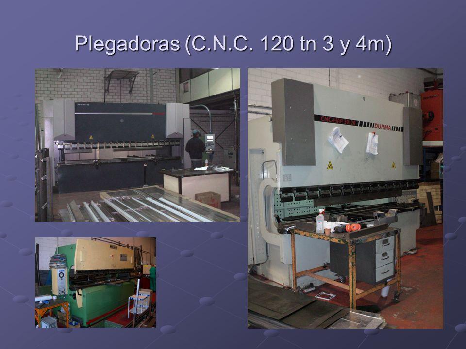Plegadoras (C.N.C. 120 tn 3 y 4m)
