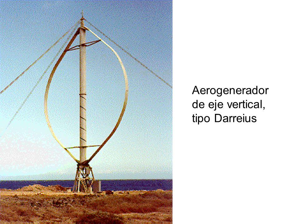 Aerogenerador de eje vertical, tipo Darreius