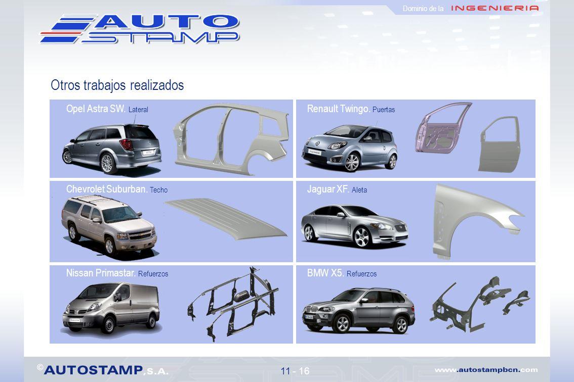 Otros trabajos realizados 11 - 16 Dominio de la Opel Astra SW.
