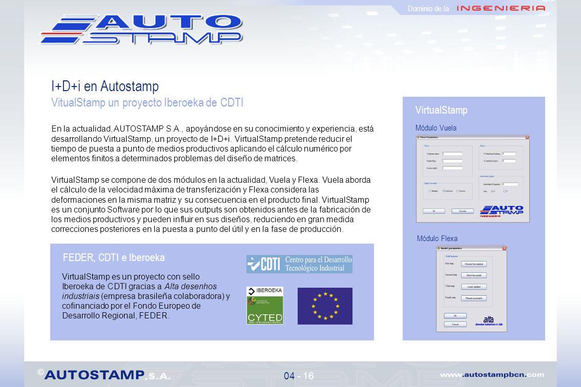 Proyectos realizados para 15 - 16 Dominio de la MatriceríasAeronáutica y Composites Constructores