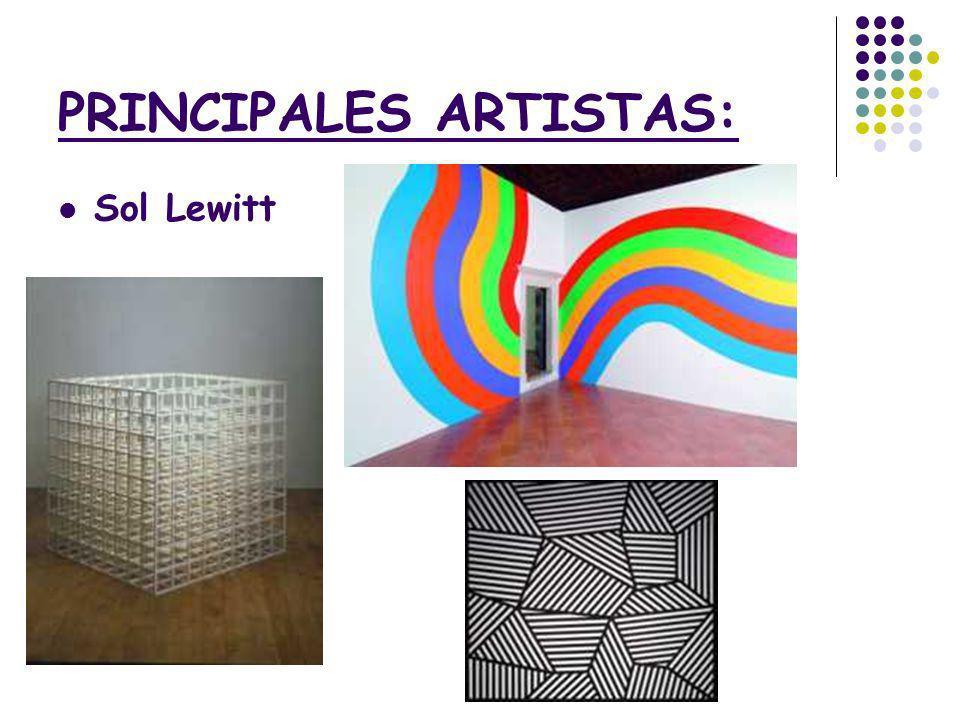PRINCIPALES ARTISTAS: Sol Lewitt