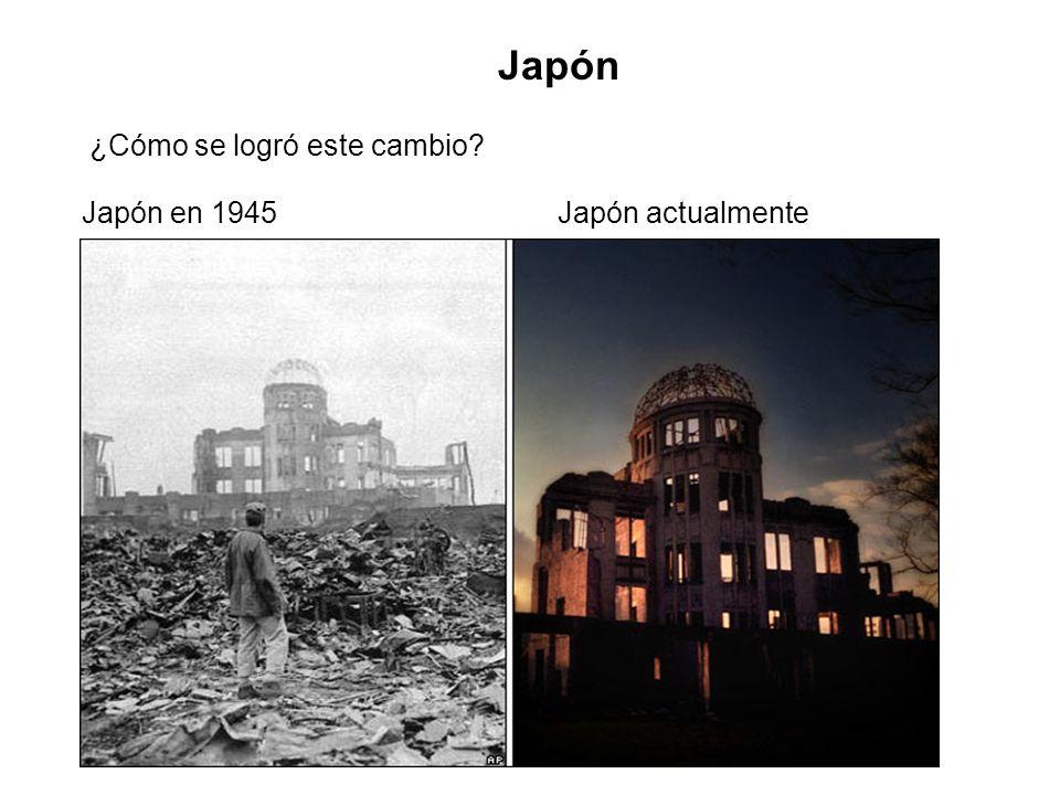Japón ¿Cómo se logró este cambio? Japón en 1945Japón actualmente