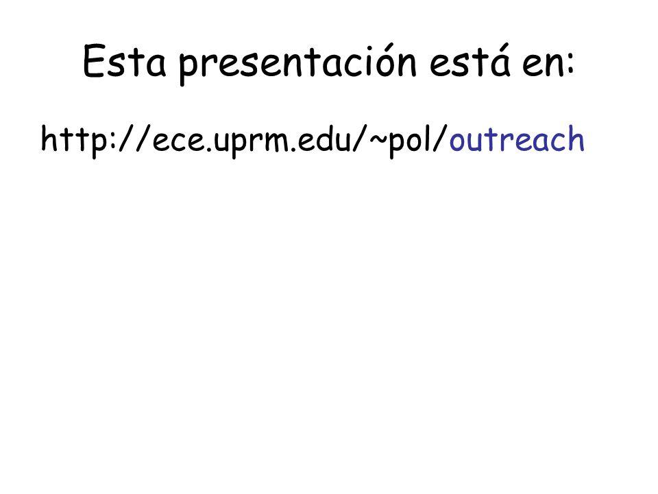 Esta presentación está en: http://ece.uprm.edu/~pol/outreach
