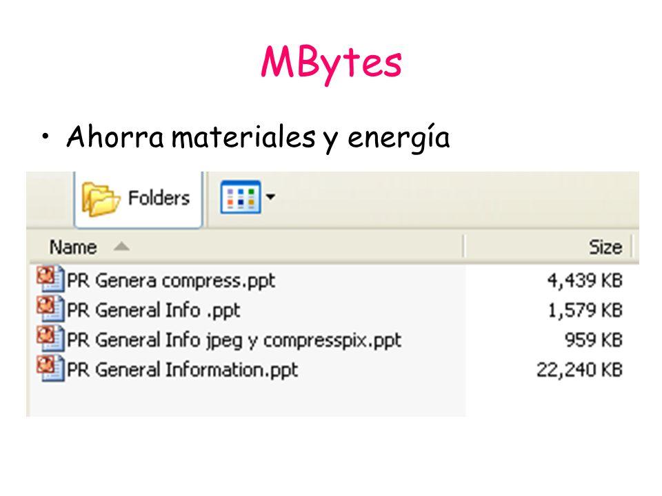 MBytes Ahorra materiales y energía
