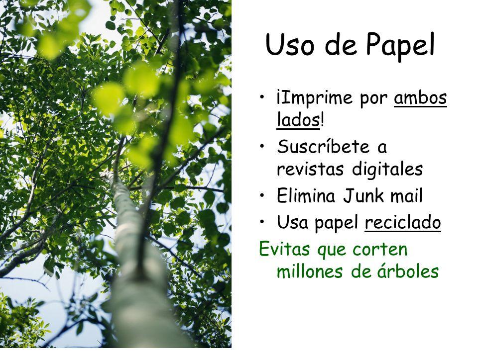 Uso de Papel ¡Imprime por ambos lados.