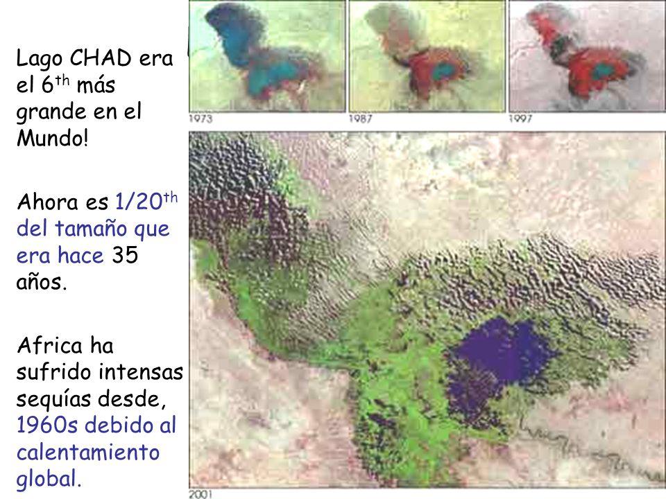 Lake Chad Lago CHAD era el 6 th más grande en el Mundo.