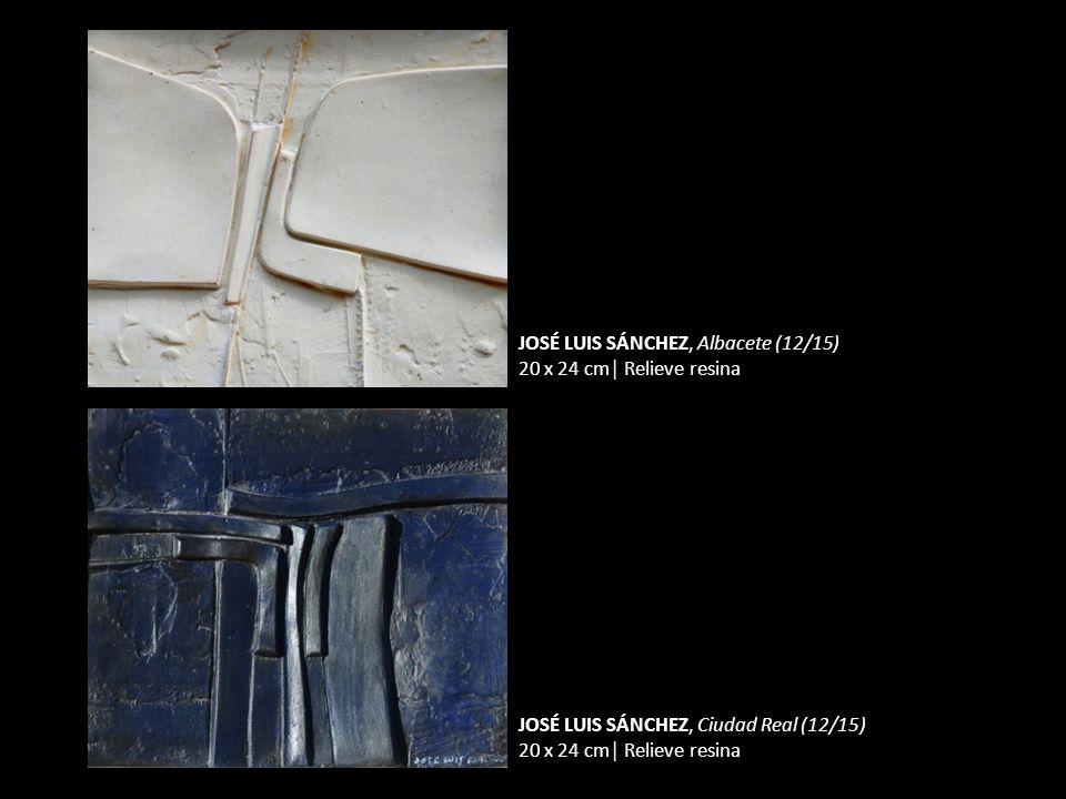JOSÉ LUIS SÁNCHEZ, Albacete (12/15) 20 x 24 cm Relieve resina JOSÉ LUIS SÁNCHEZ, Ciudad Real (12/15) 20 x 24 cm Relieve resina
