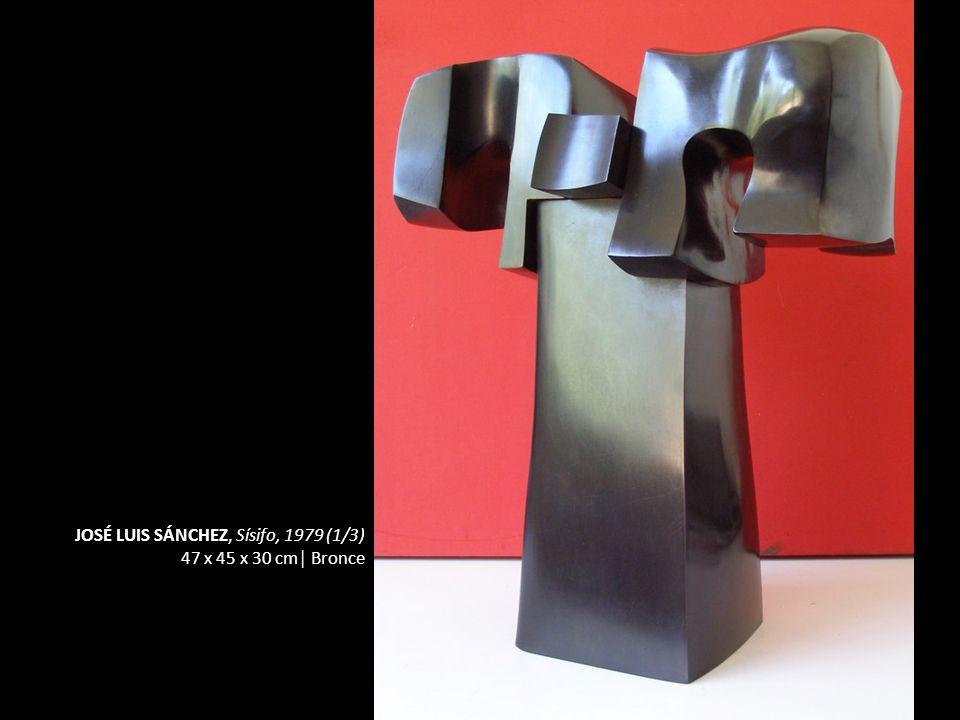 JOSÉ LUIS SÁNCHEZ, Sísifo, 1979 (1/3) 47 x 45 x 30 cm Bronce