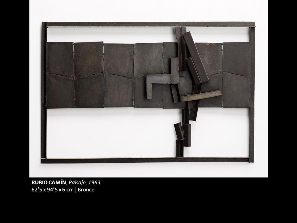 RUBIO CAMÍN, Paisaje, 1963 625 x 945 x 6 cm Bronce