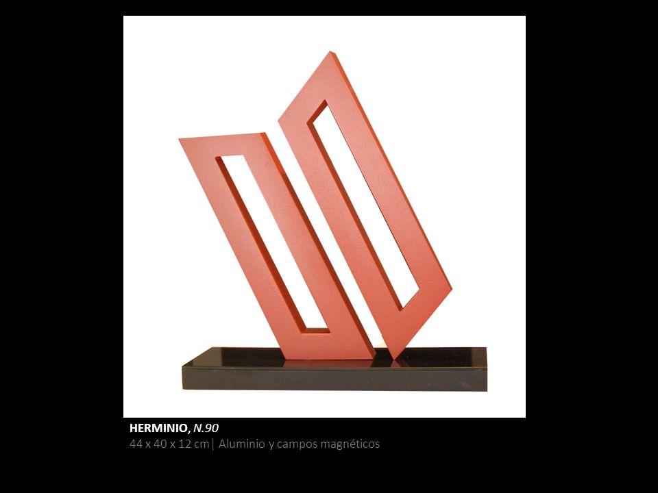 HERMINIO, N.90 44 x 40 x 12 cm Aluminio y campos magnéticos