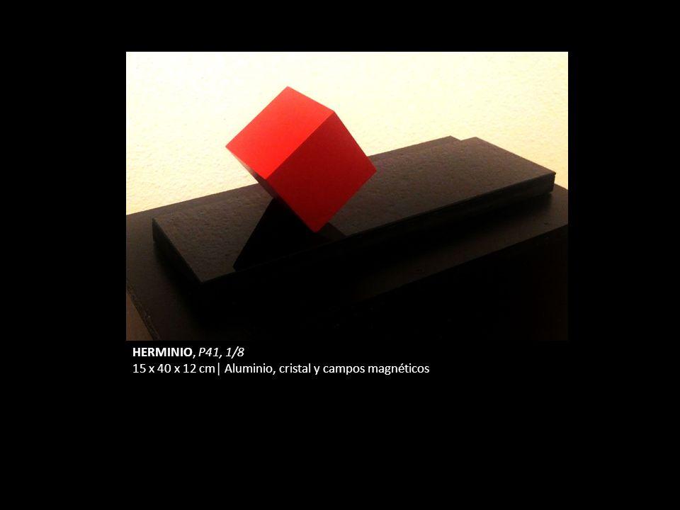 HERMINIO, P41, 1/8 15 x 40 x 12 cm Aluminio, cristal y campos magnéticos