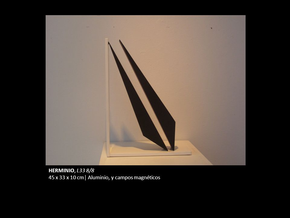 HERMINIO, L33 8/8 45 x 33 x 10 cm Aluminio, y campos magnéticos