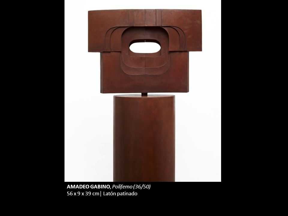 AMADEO GABINO, Polifemo (36/50) 56 x 9 x 39 cm Latón patinado