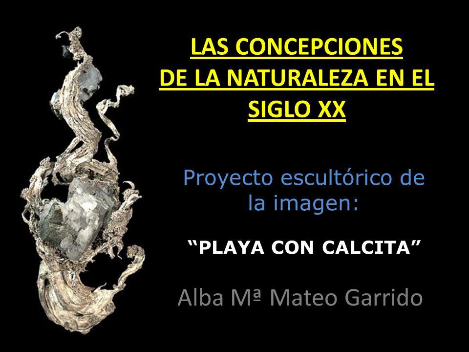 Proyecto escultórico de la imagen: PLAYA CON CALCITA Alba Mª Mateo Garrido LAS CONCEPCIONES DE LA NATURALEZA EN EL SIGLO XX