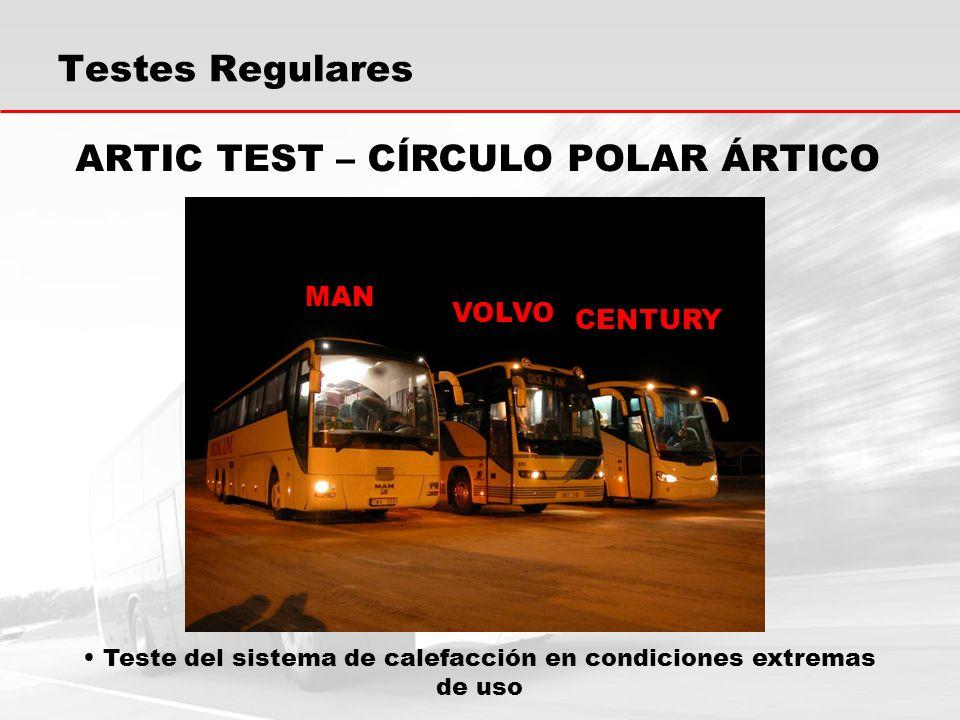 Testes Regulares Teste del sistema de calefacción en condiciones extremas de uso ARTIC TEST – CÍRCULO POLAR ÁRTICO MAN VOLVO CENTURY