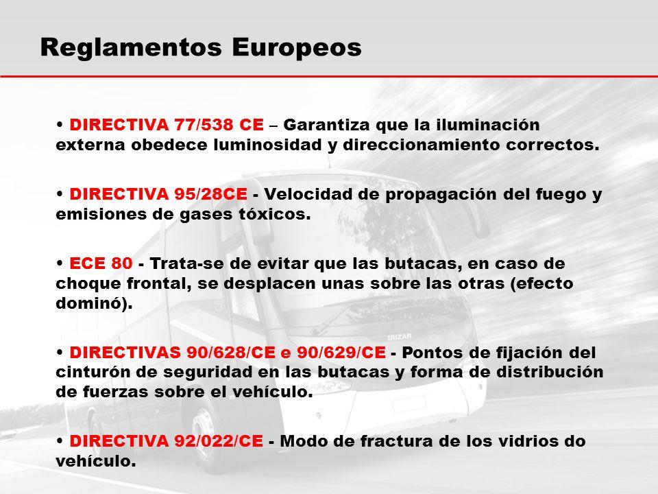 DIRECTIVA 77/538 CE – Garantiza que la iluminación externa obedece luminosidad y direccionamiento correctos.