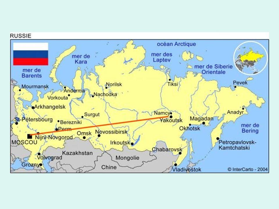 Esta autopista federal rusa va de Moscú a Yakoutsk a Siberia.