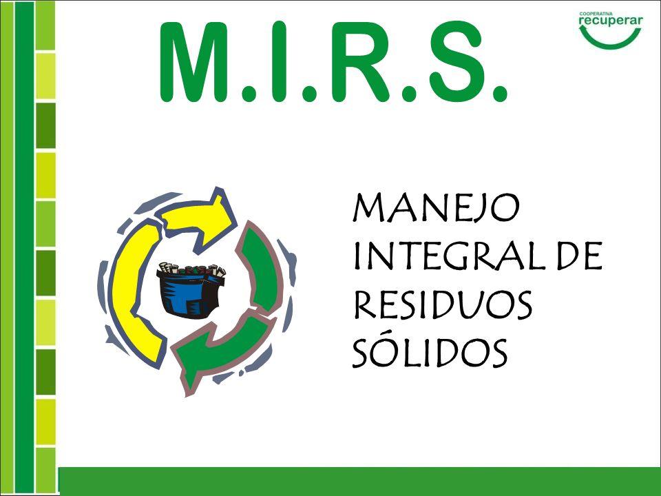 MANEJO INTEGRAL DE RESIDUOS SÓLIDOS