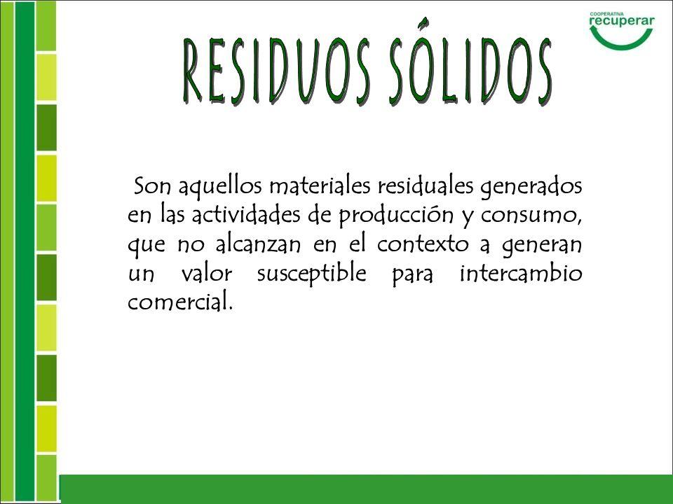 * Reducción de la cantidad de material reciclable dispuesto en el Relleno Sanitario.