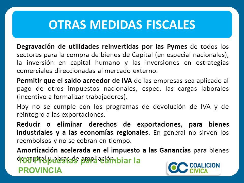 Degravación de utilidades reinvertidas por las Pymes de todos los sectores para la compra de bienes de Capital (en especial nacionales), la inversión