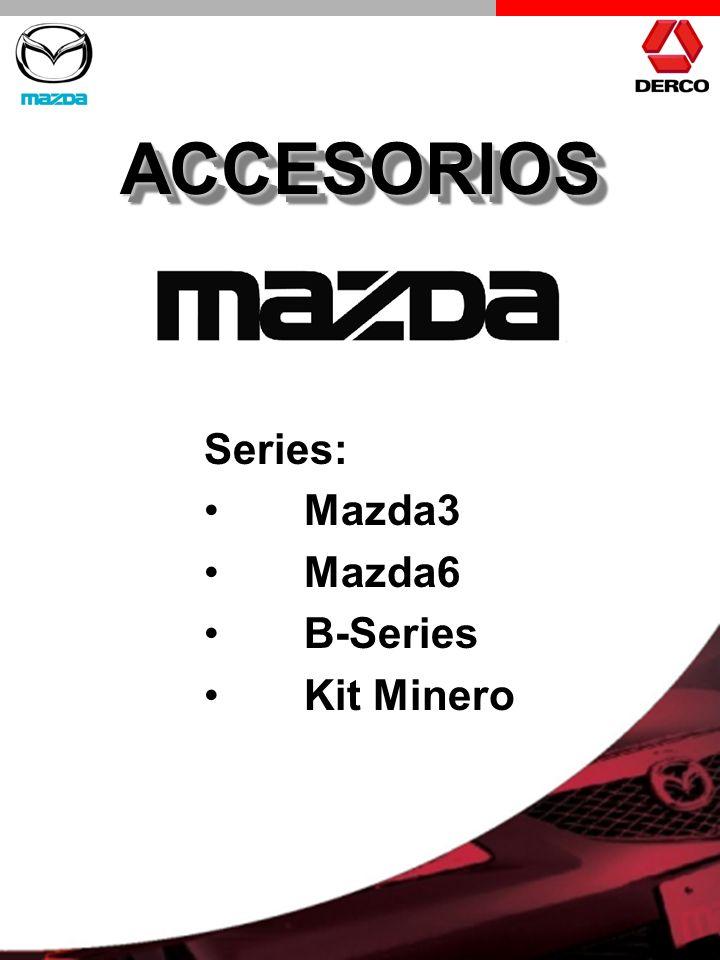 ACCESORIOSACCESORIOS Series: Mazda3 Mazda6 B-Series Kit Minero