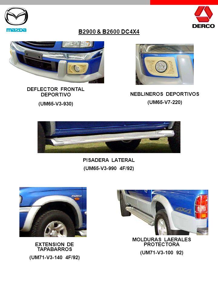 NEBLINEROS DEPORTIVOS (UM65-V7-220) PISADERA LATERAL (UM65-V3-990 4F/92) MOLDURAS LAERALES PROTECTORA (UM71-V3-100 92) DEFLECTOR FRONTAL DEPORTIVO (UM