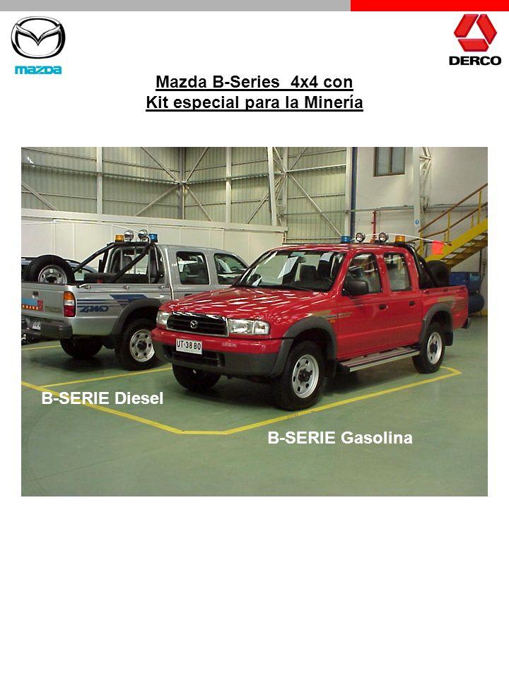 Mazda B-Series 4x4 con Kit especial para la Minería B-SERIE Diesel B-SERIE Gasolina