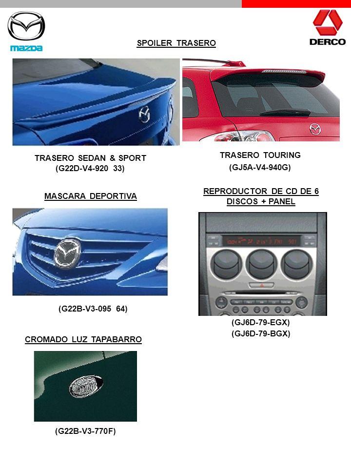 TRASERO TOURING (GJ5A-V4-940G) SPOILER TRASERO TRASERO SEDAN & SPORT (G22D-V4-920 33) MASCARA DEPORTIVA (G22B-V3-095 64) REPRODUCTOR DE CD DE 6 DISCOS