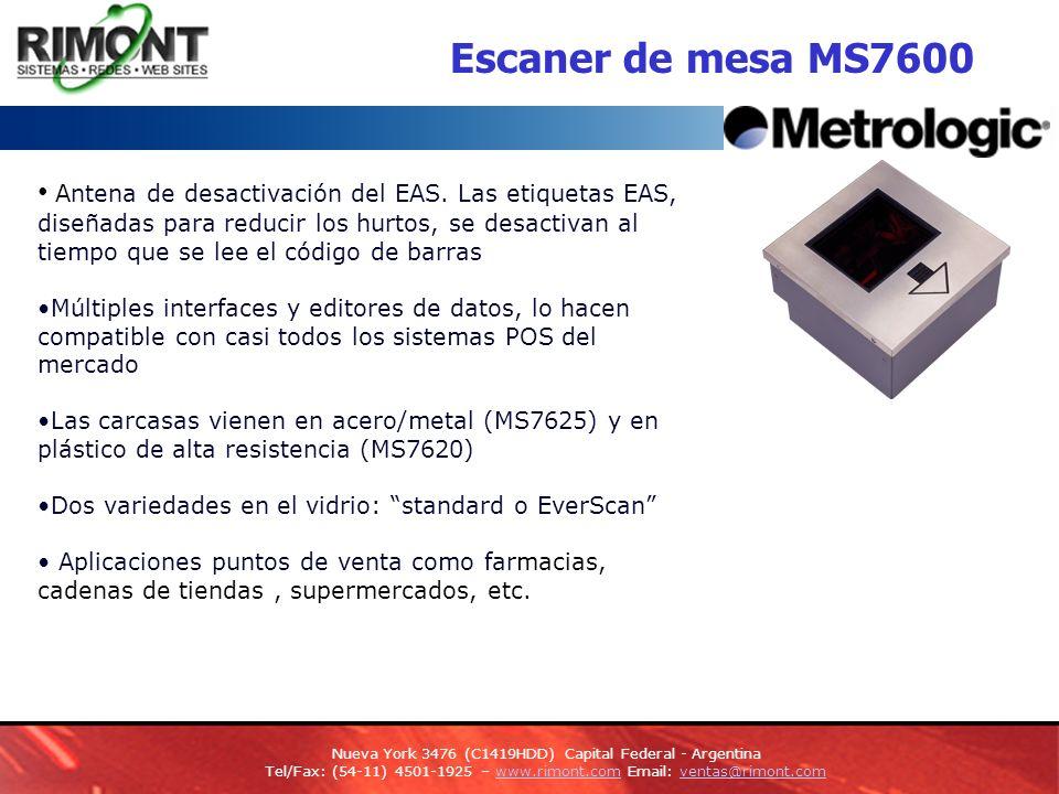 Escaner de mesa MS7600 Antena de desactivación del EAS.
