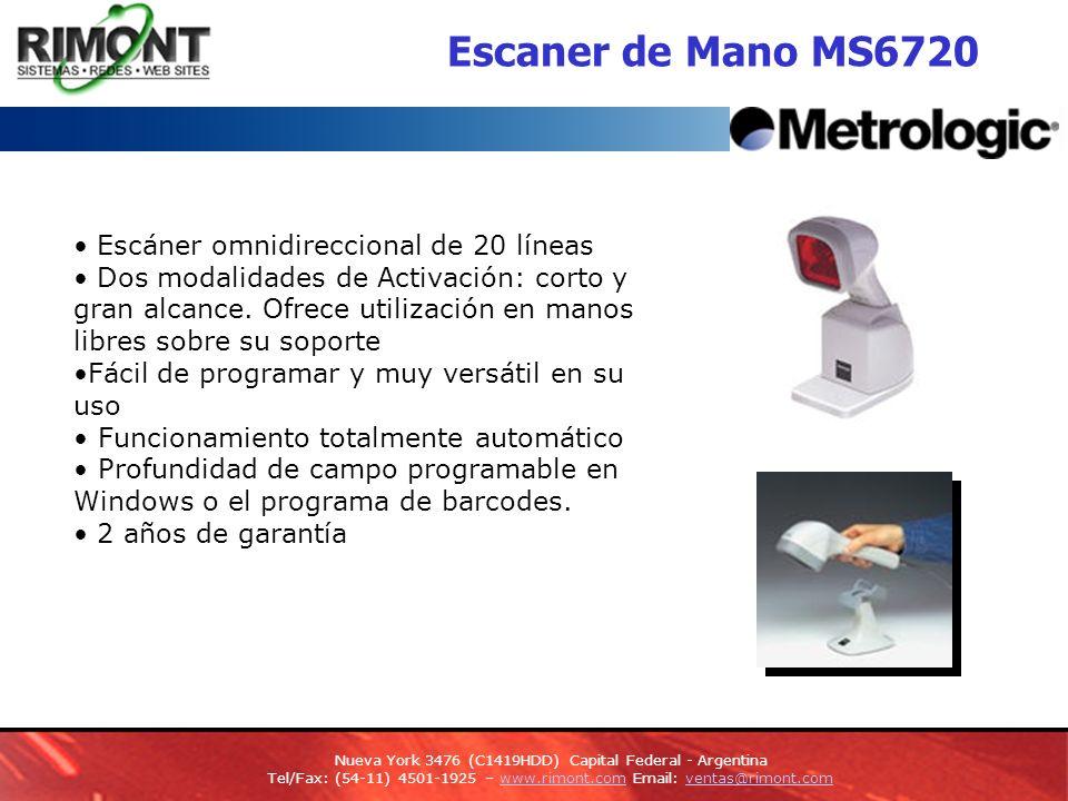 Escaner de presentacion MS6520 Cubit Escaner compacto omnidireccional de codigo de barras totalmente automatico Aplicaciones usadas en negocios al detal Powerlink, facilidad de conexión y reemplazo de cables.