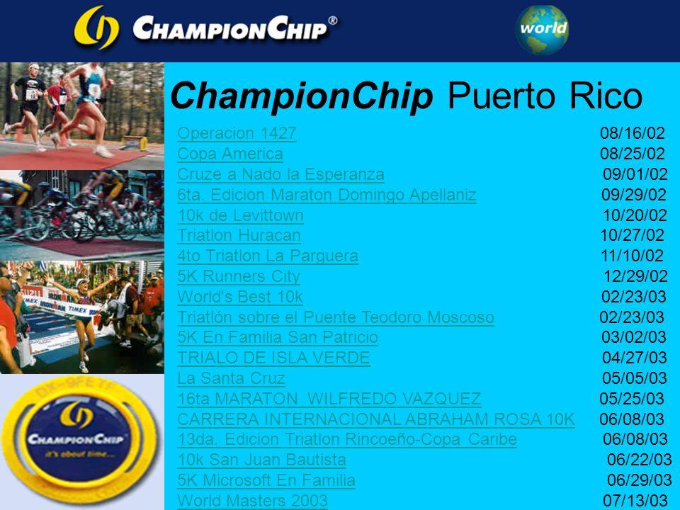 Operacion 1427Operacion 1427 08/16/02 Copa AmericaCopa America 08/25/02 Cruze a Nado la EsperanzaCruze a Nado la Esperanza 09/01/02 6ta.