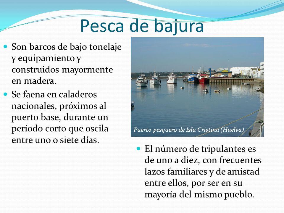 Pesca de bajura El número de tripulantes es de uno a diez, con frecuentes lazos familiares y de amistad entre ellos, por ser en su mayoría del mismo p