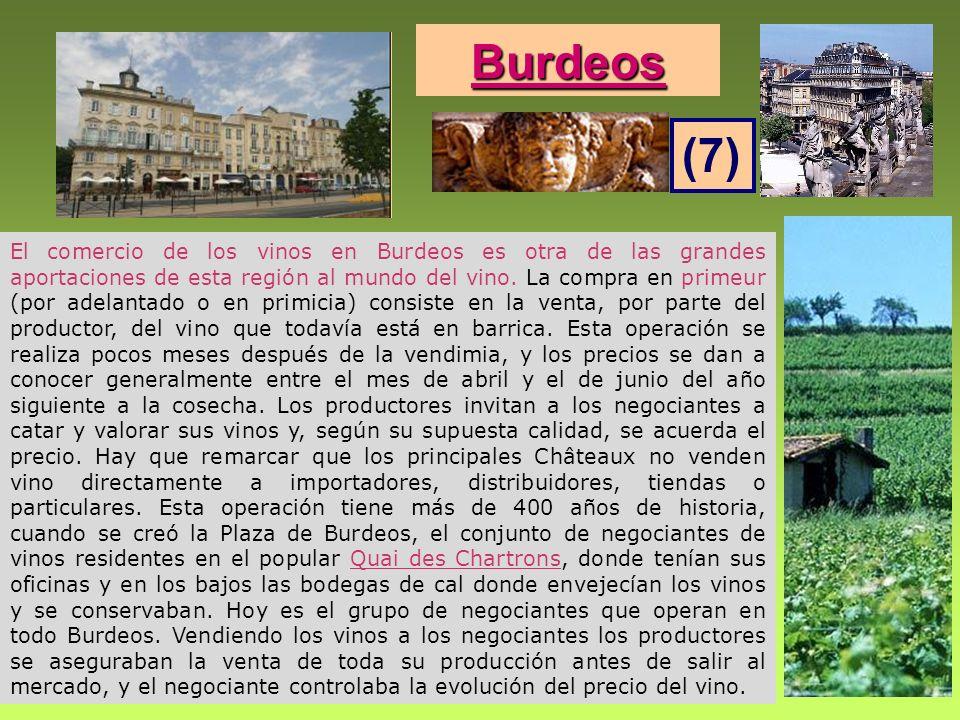 El comercio de los vinos en Burdeos es otra de las grandes aportaciones de esta región al mundo del vino. La compra en primeur (por adelantado o en pr