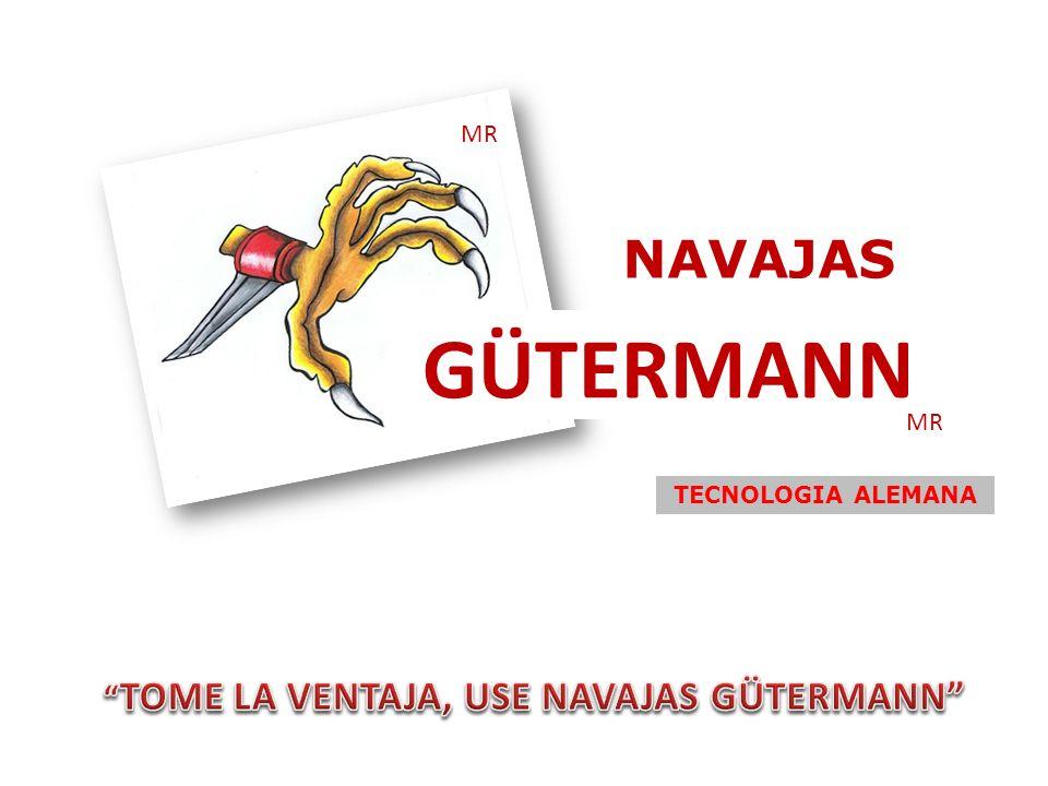 NAVAJAS GÜTERMANN NAVAJAS GÜTERMANN PIE BLANCO: NAVAJA FABRICADA EN ACERO SUECO (Cr-W-V).
