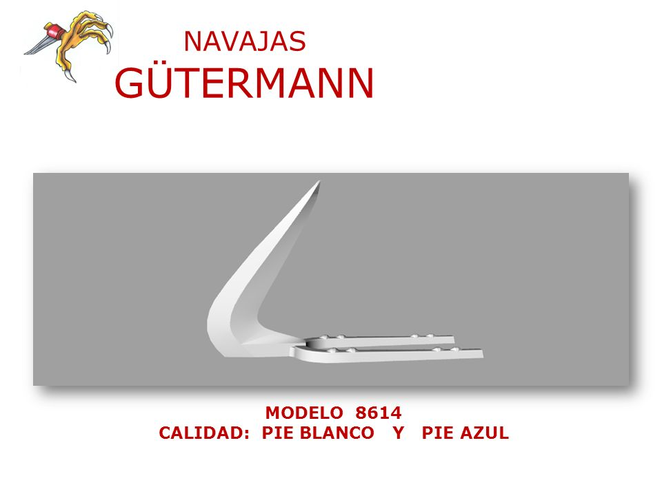 NAVAJAS GÜTERMANN MODELO 8614 CALIDAD: PIE BLANCO Y PIE AZUL
