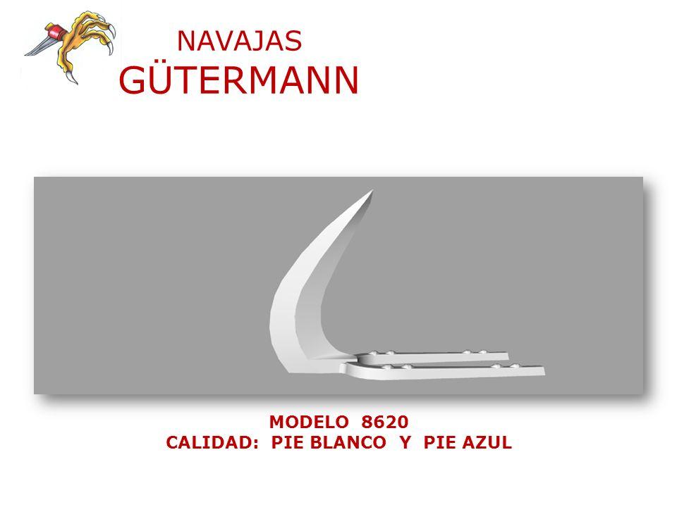 NAVAJAS GÜTERMANN MODELO 8620 CALIDAD: PIE BLANCO Y PIE AZUL