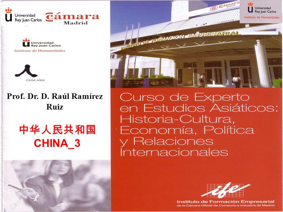 CHINA_3 Prof. Dr. D. Raúl Ramírez Ruiz